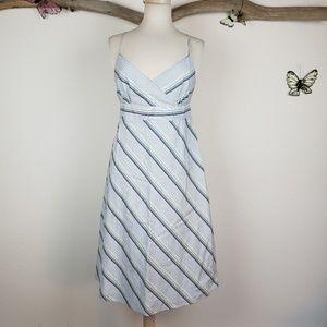 J. Crew A line 100% cotton striped summer dress